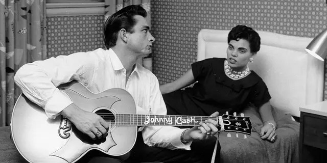 It was recently revealed that Johhny Cash's first wife, Vivian Liberto, had Black heritage. (Photo by Michael Ochs Archives/Getty Images)