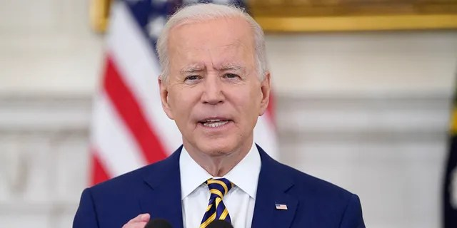President Biden speaks about reaching 300 million COVID-19 vaccination shots, in the State Dining Room of the White House, Friday, June 18, 2021, in Washington. Biden's ambitious agenda has been blocked in some instances by judges who were appointed by former President Trump. (AP Photo/Evan Vucci)