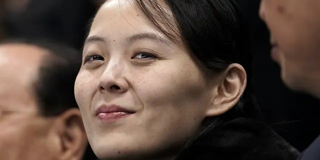 Kim Yo Jong, sister of North Korean leader Kim Jong Un, waits for the start of the preliminary round of the women's hockey game between Switzerland and the combined Koreas at the 2018 Winter Olympics in Gangneung, South Korea on Feb. 10, 2018. (AP Photo/Felipe Dana, File)