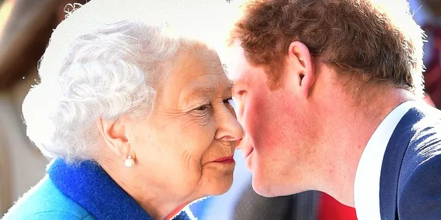 Queen Elizabeth II and Prince Harry attend the annual Chelsea Flower Show at Royal Hospital Chelsea on May 18, 2015, in London, England.