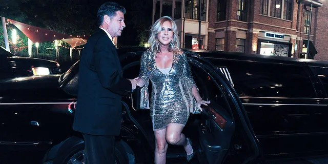 Steve Lodge and Vicki Gunvalson attend an event on September 28, 2017 in Los Angeles, California.