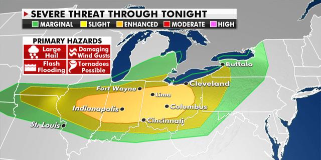 Severe weather threat across the Ohio Valley
