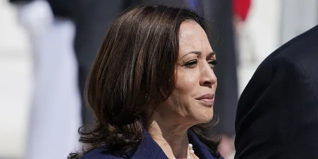 Vice President Kamala Harris at the Tomb of the Unknown Soldier in Arlington National Cemetery on Memorial Day, Monday, May 31, 2021, in Arlington, Va
