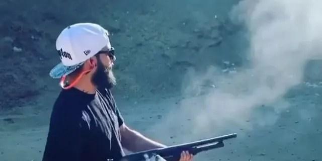 Eriz's alleged public instagram profile shows him shooting multiple guns.