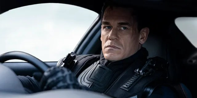 This image released by Universal Pictures shows John Cena in a scene from 'F9: The Fast Saga.'
