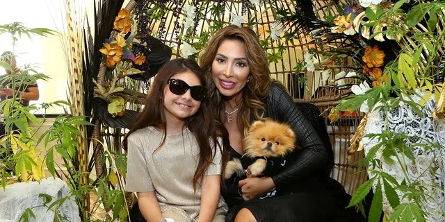 Farrah Abraham (R) and daughter Sophia Laurent Abraham attend Debbie Durkin's EcoLuxe Lounge Honoring Film Award Nominees 2020 at The Beverly Hilton Hotel on February 07, 2020 in Beverly Hills, California.