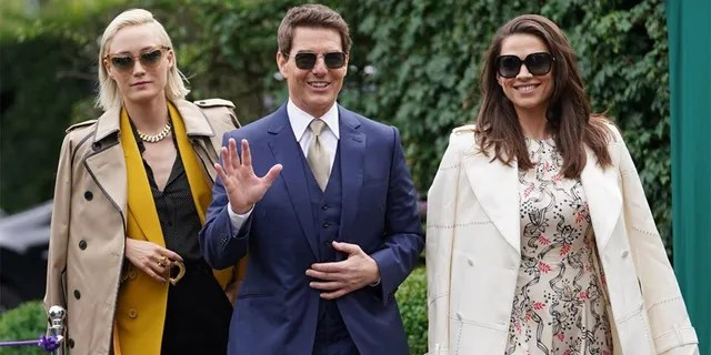 Tom Cruise and Hayley Atwell attend Wimbledon Championships Tennis Tournament Ladies Final Day at All England Lawn Tennis and Croquet Club on July 10, 2021 in London, England. 10 Jul 2021 (Mirrorpix / MEGA)