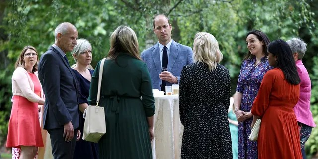 Prince William, Duke of Cambridge hosts a NHS Big Tea garden party to commemorate the NHS' 73rd Birthday at Buckingham Palace on July 05, 2021 in London, England.