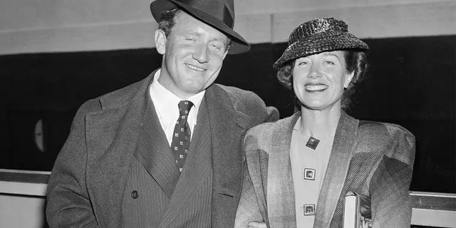 Spencer Tracy with his wife Louise Treadwell Tracy.