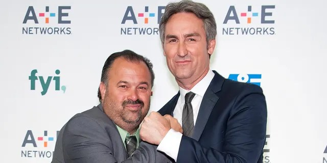 Frank Fritz (left), who has since left History Channel's 'American Pickers,' admitted his relationship with former co-host Mike Wolfe (right) is strained.
