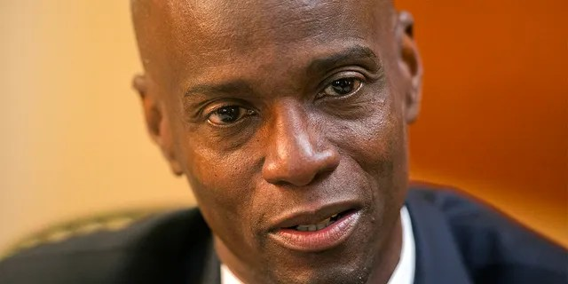 In this Feb. 7, 2020, file photo, Haiti's President Jovenel Moise speaks during an interview at his home in Petion-Ville, a suburb of Port-au-Prince, Haiti. Sources say Moise was assassinated at home, first lady hospitalized amid political instability.