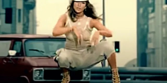 The star's outfit gave off familiar vibes from her 2002 'Jenny from the Block' music video, which famously starred her beau, Ben Affleck.