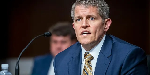 David H. Chipman appears before a Senate Committee on the Judiciary hearing for his nomination to be director of the Bureau of Alcohol, Tobacco, Firearms, and Explosives, in the Dirksen Senate Office Building in Washington, D.C., Wednesday, May 26, 2021.