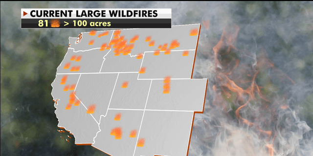 Current wildfires across the U.S. (Fox News)