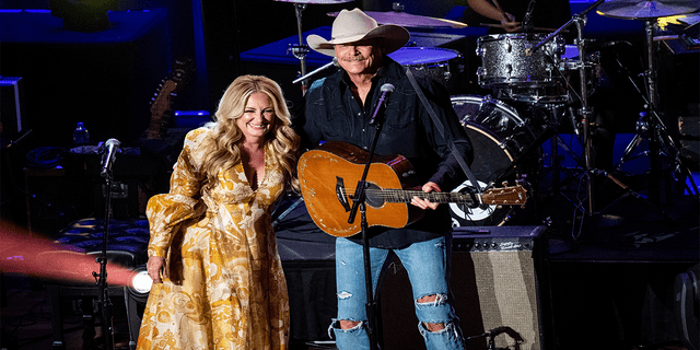 Lee Ann Womack, left, and Alan Jackson perform at the 14th Annual ACM Honors at Ryman Auditorium on Wednesday, Aug. 25, 2021, in Nashville, Tennessee.