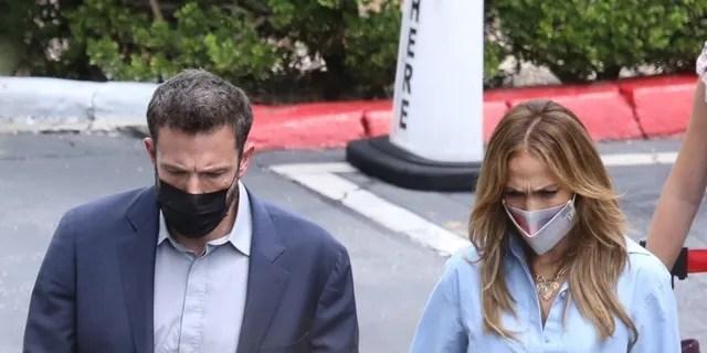 Ben Affleck and Jennifer Lopez in Los Angeles.
