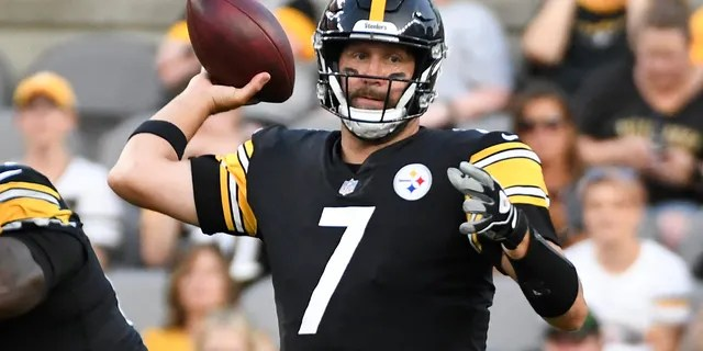Pittsburgh Steelers quarterback Ben Roethlisberger throws a pass against the Detroit Lions during the first half of an NFL preseason football game Saturday, Aug. 21, 2021, in Pittsburgh.