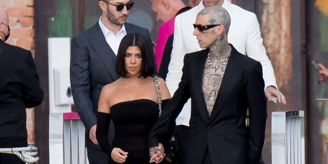 New power couple Kourtney Kardashian and Travis Barker appeared together in Venice.