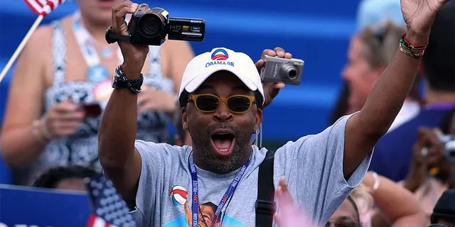 UNITED STATES - AUGUST 28: Spike Lee, a film director, uses a Sony video camera to record day four of the Democratic National Convention (DNC) at Invesco Field at Mile High in Denver, Colorado, U.S., on Thursday, Aug. 28, 2008. Senator Barack Obama of Illinois will accept his party's nomination for Democratic presidential candidate during his speech at the stadium tonight. (Photo by Daniel Acker/Bloomberg via Getty Images)