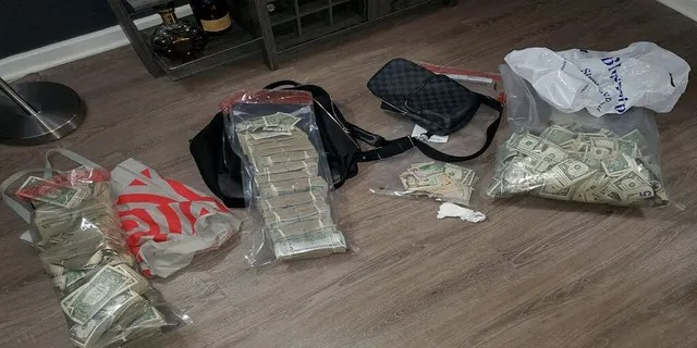 Some of the cash seized by police during the investigation. (NYPD)