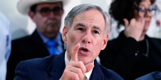 """In this March 16, 2020, file photo, Texas Gov. Greg Abbott speaks during a news conference in San Antonio. Gov. Abbott, in defending Texas' near-ban on abortions, says women and girls who are raped won't be forced to give birth because the new law """"provides at least six weeks for a person to be able to get an abortion."""" (AP Photo/Eric Gay, File)"""