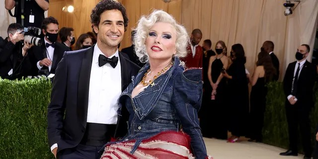 Zac Posen and Debbie Harry attend The 2021 Met Gala Celebrating In America: A Lexicon Of Fashion at Metropolitan Museum of Art on September 13, 2021 in New York City.