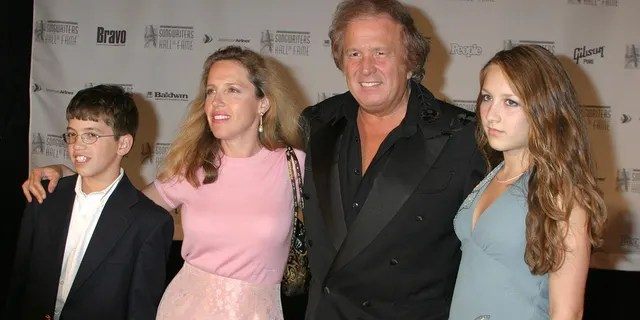 Don McLean – seen here with son Wyatt, left, and ex-wife Patricia McLean-- said he cut daughter Jackie, right, off financially after she accused him of abuse.
