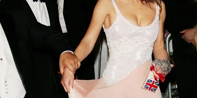 Actress Elizabeth Hurley and partner Arun Nayar at the Metropolitan Museum of Art Costume Institute Benefit Gala 'AngloMania: Tradition and Transgression in British Fashion' at the Metropolitan Museum of Art May 1, 2006 in New York City.