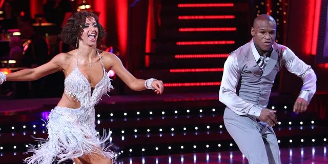 Floyd Mayweather Jr. competed professionally with Karina Smirnoff.