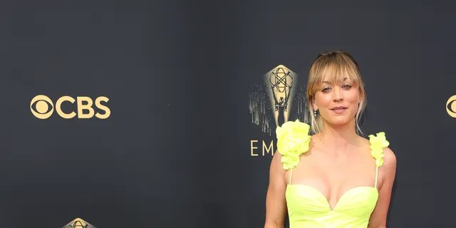 Kaley Cuoco is nominated for an Emmy for her role in 'The Flight Attendant.'