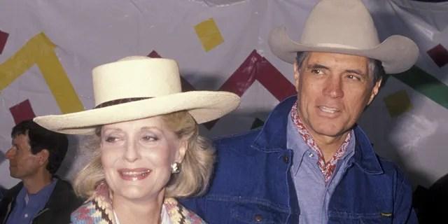 Constance Towers and actor John Gavin circa 1990