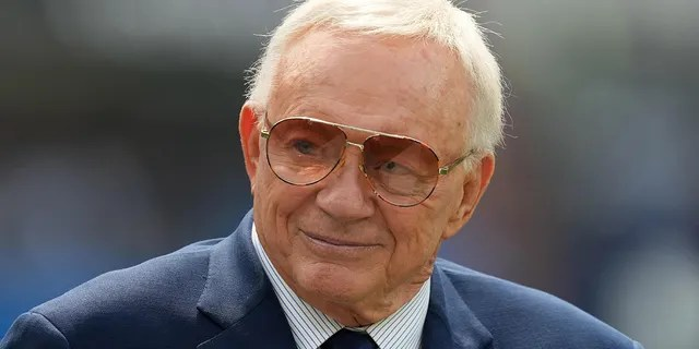 Sep 19, 2021; Inglewood, California, USA; Dallas Cowboys owner Jerry Jones before the game against the Los Angeles Chargers at SoFi Stadium.