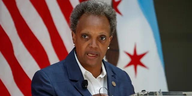 Mayor Lori Lightfoot speaks in Chicago, July 23, 2020.