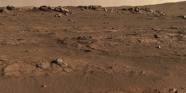 Perseverance Mars rover used its Mastcam-Z camera system to create this enhanced-color panorama, which scientists used to look for rock-sampling sites. The panorama is stitched together from 70 individual images taken on July 28, 2021, the 155th Martian day, or sol, of the mission.
