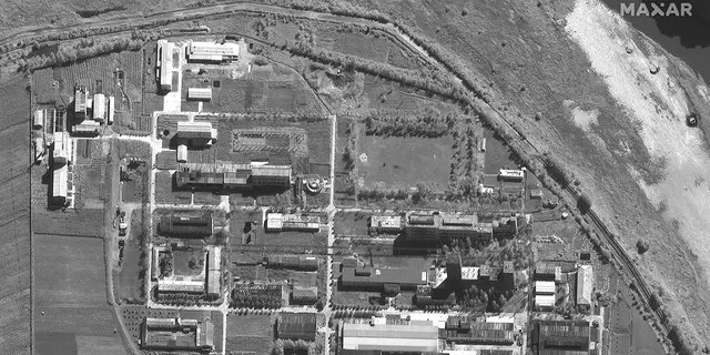 A satellite image of the Yongybon nuclear research facility in North Korea