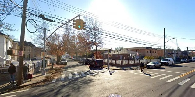 Police shot and wounded an enraged man who took his NYPD cop wife's gun at their Queens home at 130th Street and 133rd Avenue in Wakefield.