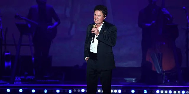 Donny Osmond performs during his first solo residency at Harrah's Las Vegas on August 31, 2021 in Las Vegas, Nevada.