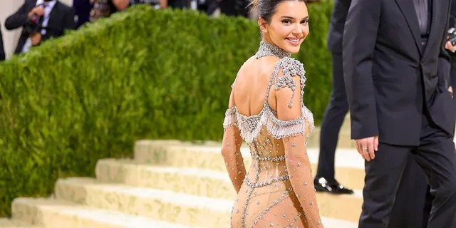 Kendall Jenner attends The 2021 Met Gala Celebrating In America: A Lexicon Of Fashion at Metropolitan Museum of Art on September 13, 2021 in New York City