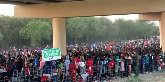 Over 8,000 migrants gathered under a bridge in Del Rio, Texas, after crossing the border illegally.