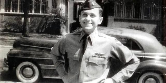 Lieutenant Robert J.  Quiak returned home after the end of World War II.