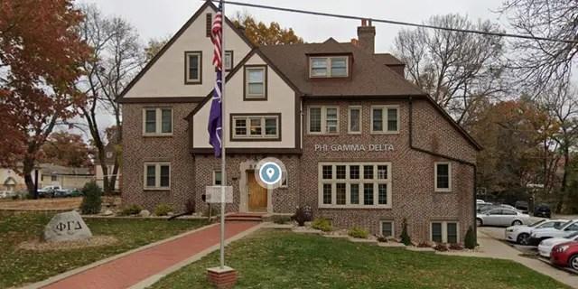 The Phi Gamma Delta house in Iowa City, Iowa.