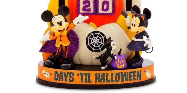 The shopDisney Mickey and Minnie Mouse Halloween Countdown Calendar retails for $49.99.