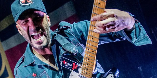 Tom Morello of Rage Against The Machine performs as part of Prophets of Rage live on stage at the O2 Forum Kentish Town on November 13, 2017 in London, England.
