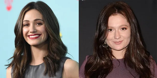 Emma Kenney (right) said that her 'Shameless' co-star Emmy Rossum (left) made her feel 'anxious.'