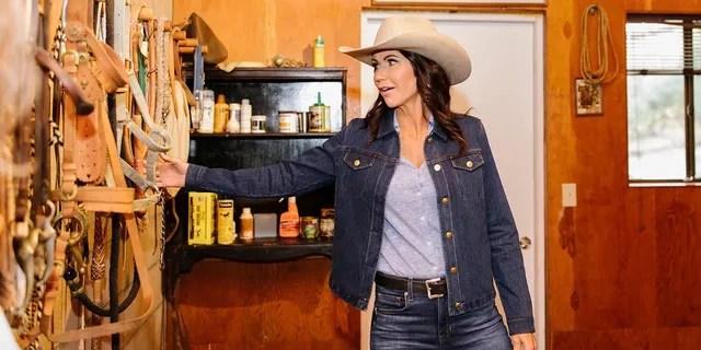 Gov. Kristi Noem visits the Reagan Ranch in October 2021.