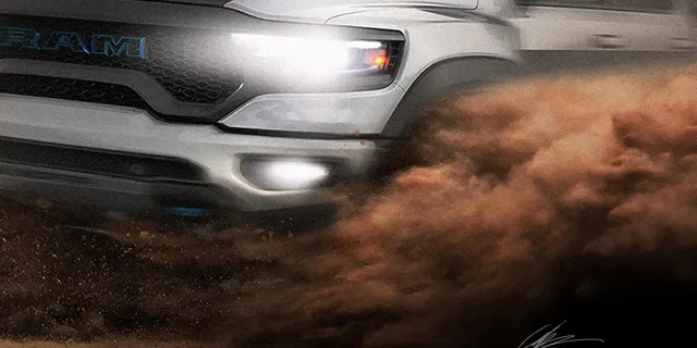 This truck could be an electrified Ram TRX.