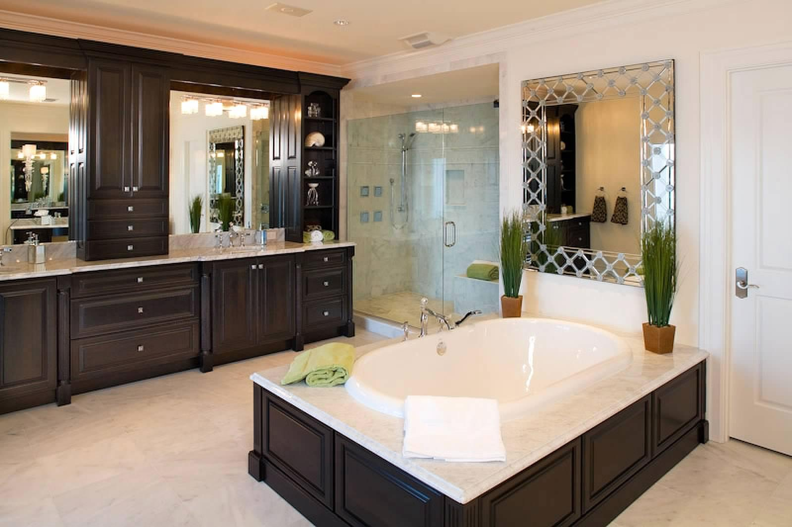 title   Luxurious master bathrooms