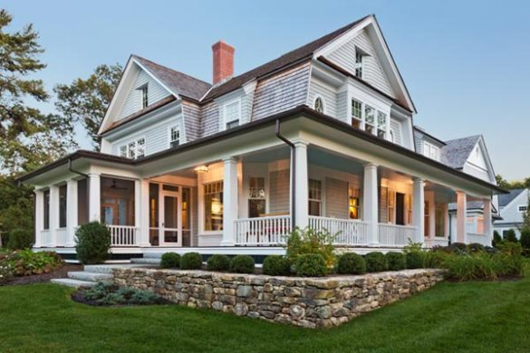 20 Homes With Beautiful Wrap Around Porches   Housely beautiful classic home with large porch