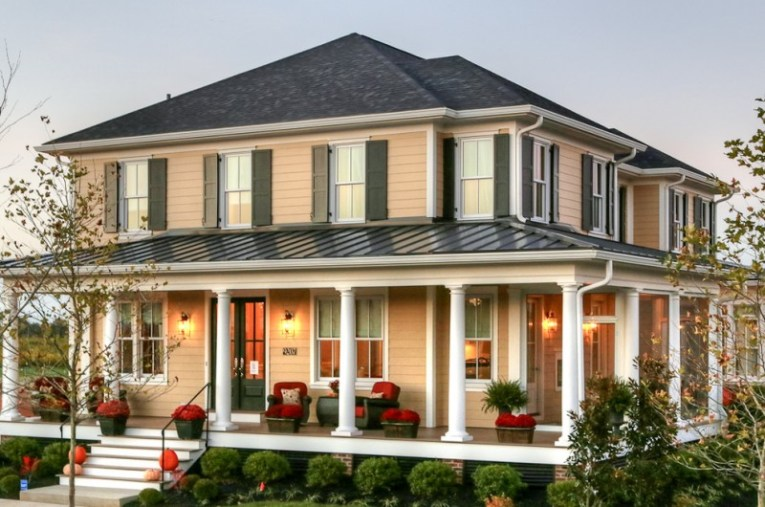 20 Homes With Beautiful Wrap Around Porches   Housely modern home with wrap around porch