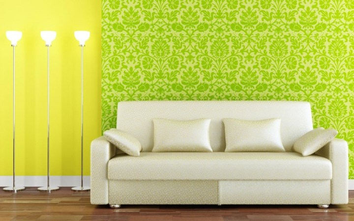 20 Cool Wallpaper Designs That Will Spruce Up Your Home   Housely bright green wallpaper with pattern